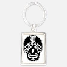 Sugar Skull Catcher - Birdshot D Portrait Keychain