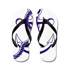 Old Style Anchor Flip Flops