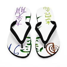 Reiki Symbols Flip Flops