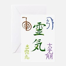 Reiki Symbols Greeting Card