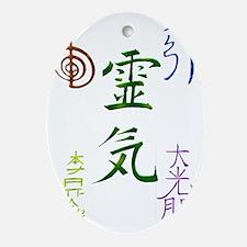 Reiki Symbols Oval Ornament