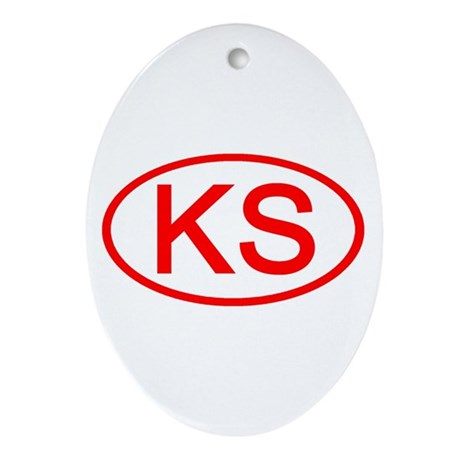 KS Oval (Red) Oval Ornament