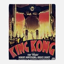 King Kong 1933 French poster Throw Blanket