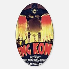 King Kong 1933 French poster Sticker (Oval)