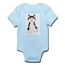 Cartoon Huskies Infant Creeper
