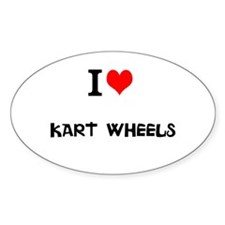 I Love Kart Wheels Decal