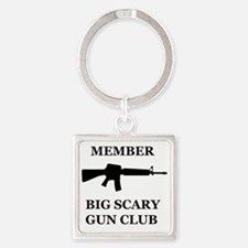 Big Scary Gun Club Square Keychain