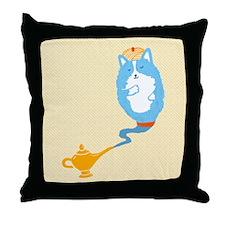 Corgi Genie Throw Pillow