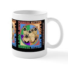 many siamese kitties cat graphics  Mug