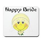 Smiley Face Bride Mousepad