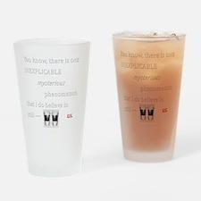 Believe in Us Drinking Glass