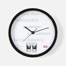 Believe in Us Wall Clock