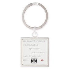 Believe in Us Square Keychain