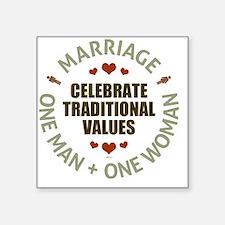 """Celebrate Traditional Value Square Sticker 3"""" x 3"""""""
