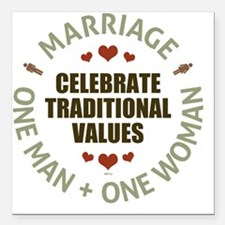 "Celebrate Traditional Va Square Car Magnet 3"" x 3"""