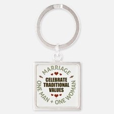 Celebrate Traditional Values Square Keychain