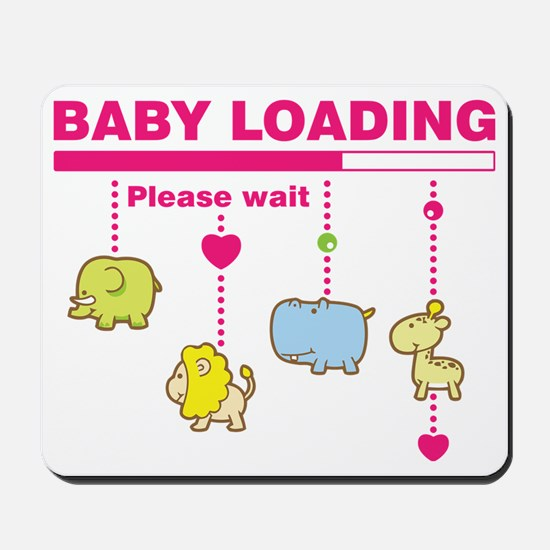 Baby girl loading Mousepad