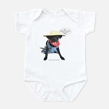 Black Lab Farmer Infant Bodysuit