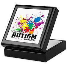 Autism Paint Splatter Keepsake Box