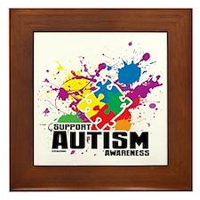 Autism Paint Splatter Framed Tile