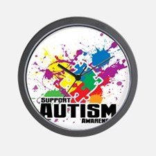 Autism Paint Splatter Wall Clock