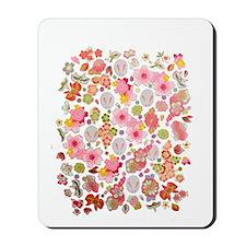 Bunnies Floral Mousepad