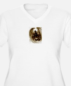 Women's Plus Size V-Neck Phantom Angel T-Shirt