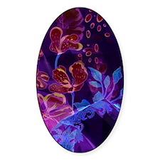 Flower Design-Blue Purple Burgundy Decal