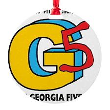 The Georgia 5 Music Video Logo Ornament