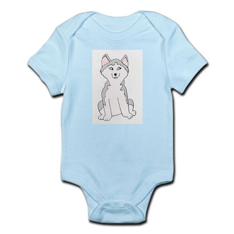 Cartoon Husky Infant Creeper