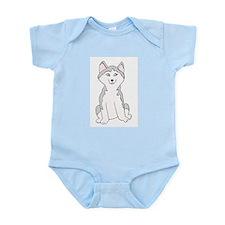 Cartoon Husky Infant Creeper