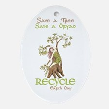 Save a Tree, Save a Dryad Oval Ornament