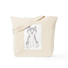 Cartoon Husky Tote Bag