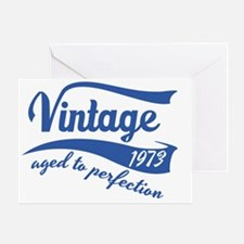Vintage 1973 aged to perfection birt Greeting Card
