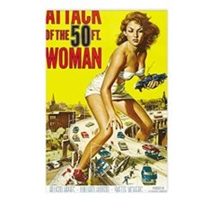 Attack of the 50 Foot Wom Postcards (Package of 8)