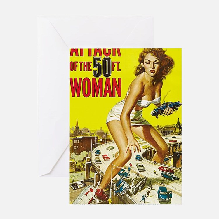 Attack of the 50 Foot Woman Poster Greeting Card