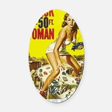 Attack of the 50 Foot Woman Poster Oval Car Magnet