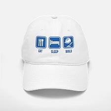 Eat Sleep Build design in Blue Baseball Baseball Cap