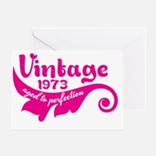 Aged to perfection 1973 pink design Greeting Card