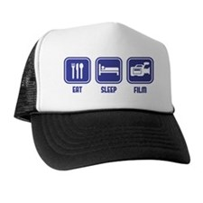 Eat Sleep Film design in blue Trucker Hat