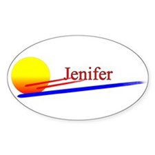 Jenifer Oval Decal