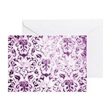 Brocade purple Greeting Card