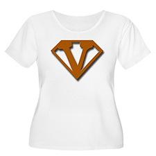 Super V Women's Plus Size Scoop Neck Texas colors