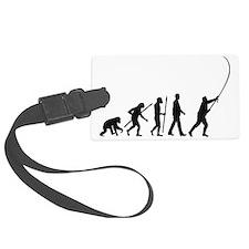 evolution of man fisherman Luggage Tag