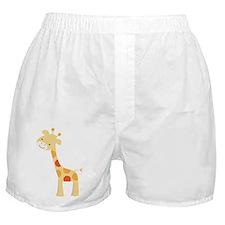 Cute Polka Dot Giraffe Boxer Shorts