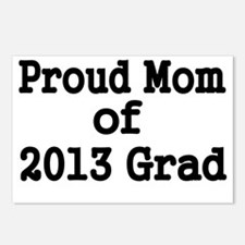 Proud Mom of 2013 Grad-bl Postcards (Package of 8)