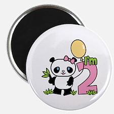 Lil' Panda Girl 2nd Birthday Magnet