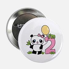 Lil' Panda Girl 2nd Birthday Button