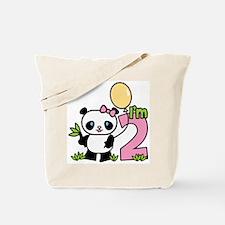 Lil' Panda Girl 2nd Birthday Tote Bag