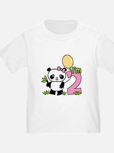 Lil' Panda Girl 2nd Birthday T